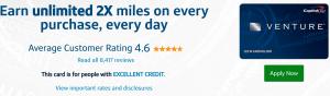 Capital One Venture card sign-up bonus