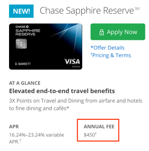 Chase Sapphire Reserve Offer