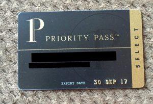 Priority Pass Select membership card