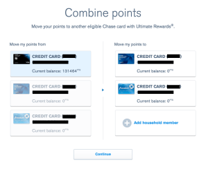 Chase Ultimate Rewards combine points