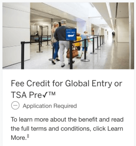 American Express Platinum Global Entry Reimbursement