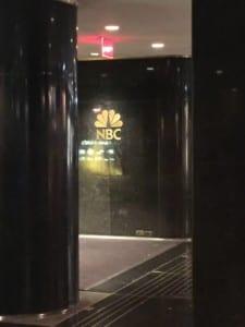 NBC sign at 30 Rock