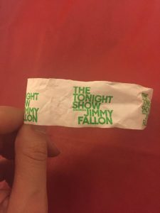 Tonight Show wrist band