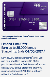 Starwood American Express Offer