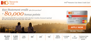 IHG Rewards Card Bonus
