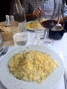 Cacio e Pepe at Maccheroni in Rome