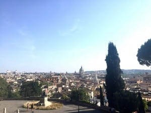 View from Villa Borghese, Rome