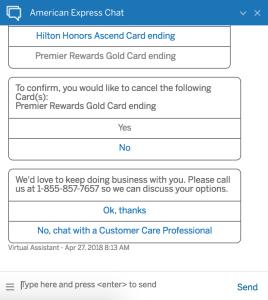 amex retention offer