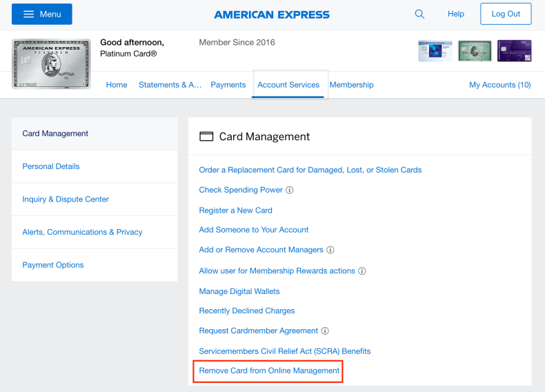 Setting up a new Amex account