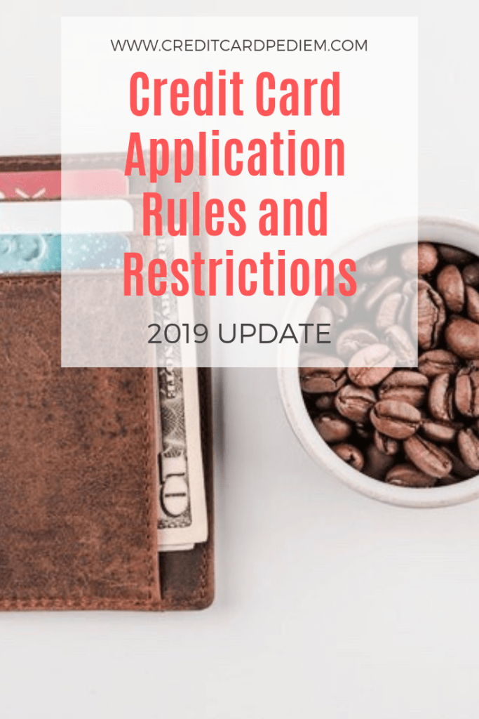 Credit Card Application Rules and Restrictions Pinterest Image