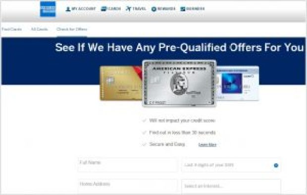 How to Prequalify for American Express Credit Card