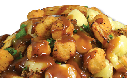 Things to do at Calgary Stampede - Popcorn Chicken Poutine