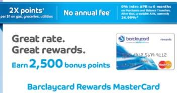 Barclaycard Rewards MasterCard