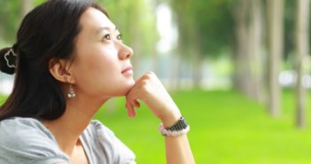 Woman thinking about Balance Transfer