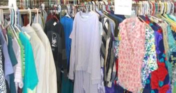 Shopping at thrift shop
