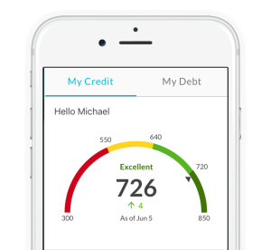 Use the Credit Sesame App to track your free credit score.