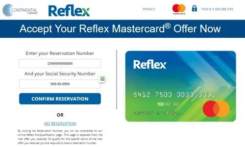 YourReflexCard.com Screenshot