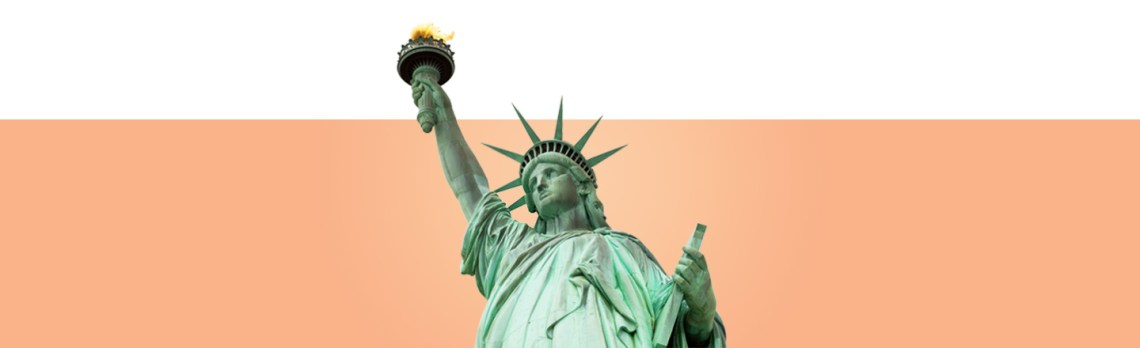 Outline photo of the Statue of Liberty