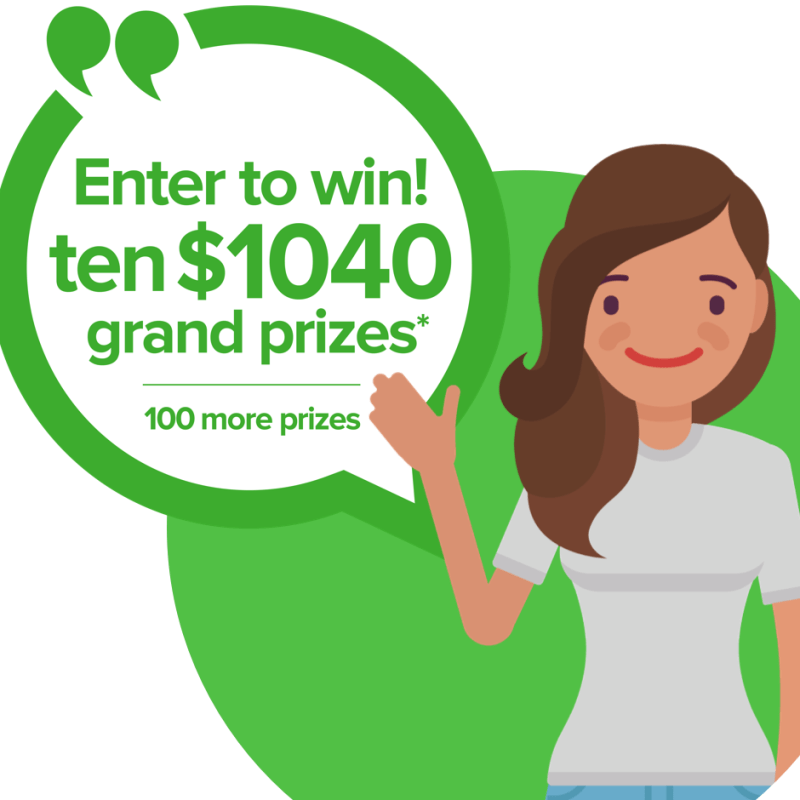 Win $1,040 Cash in Greendot.com 1040 Tax-Time Payday Giveaway