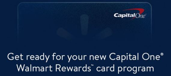 Walmart Capital One Card Conversion Image and Date