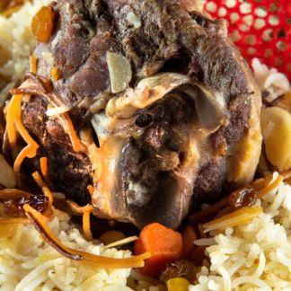 Biryani oriental cu carne de miel
