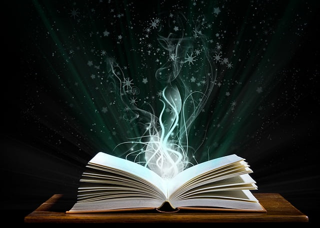 Open Book with Magic Emerging