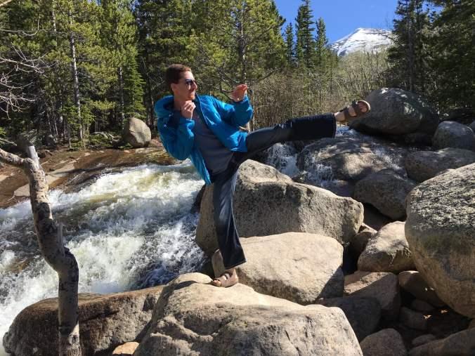 Joe Winn Kicking in Rocky Mountain National Park