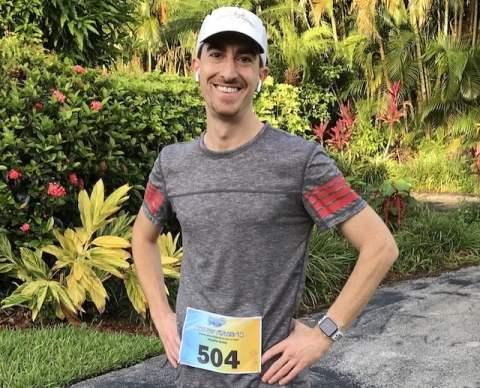 Joe Before a Virtual Run