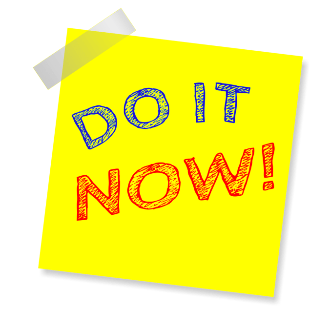 Do It Now! Notecard