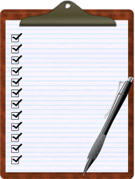 Clipboard Checklist with Pen