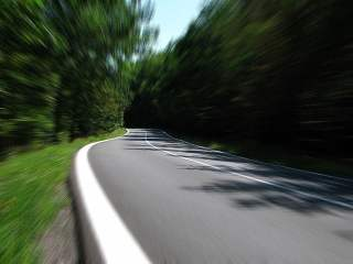 Forest Road Speed Blur