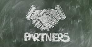 Shaking Hands Partners Chalk