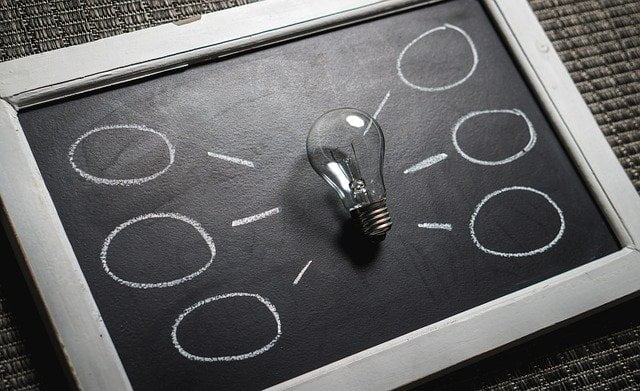 Light Bulb Chalkboard