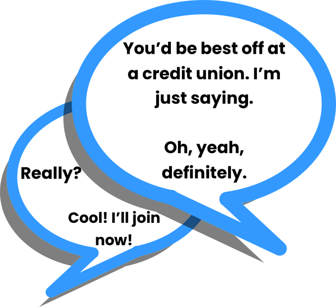 Credit Union Talk Speech Bubbles