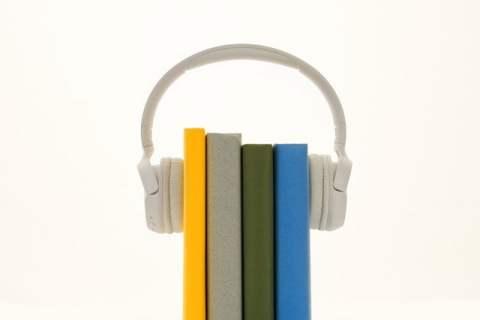Headphones on Books