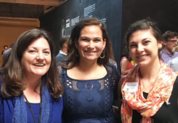 Photo of CREDO's Marketing VP and Donations Partnership Manager with NARAL's president