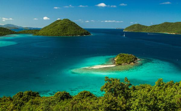 Virgin Islands in the Caribbean
