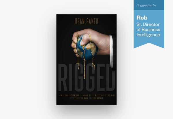 "Rob's book recommendation is ""Rigged"""
