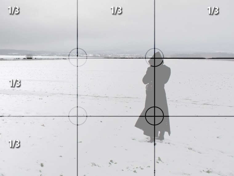 Cell phone photography tips - Image example of the rule of thirds