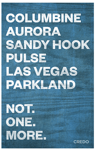 March for Our Lives protest poster – Americans for gun control