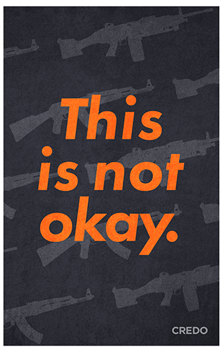 March for Our Lives protest poster – America needs gun control