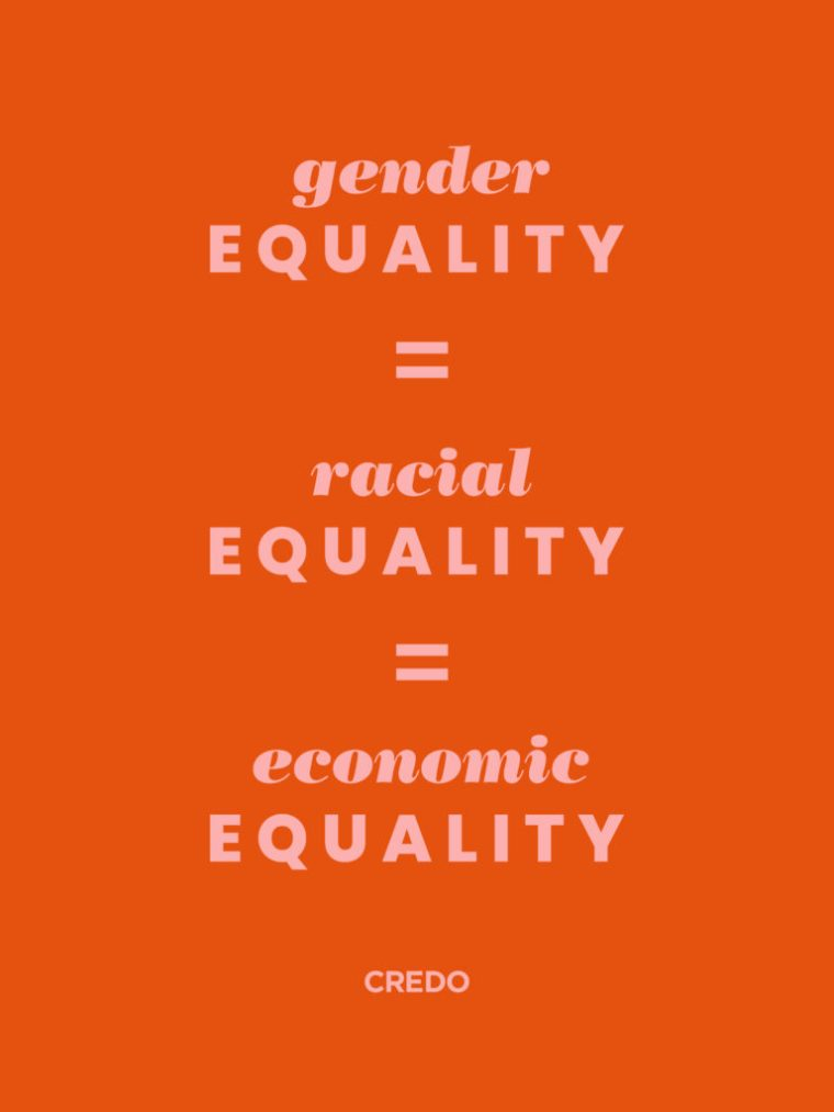 gender equality equals racial equality equals economic equality