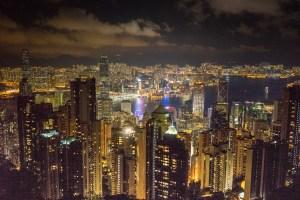 The metropolis of Hong Kong from Victoria Peak