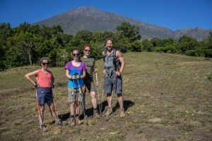 Day one, Rinjani is still in the distance.