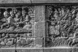 Borobrodur: Bhuddist art from the 7th century.