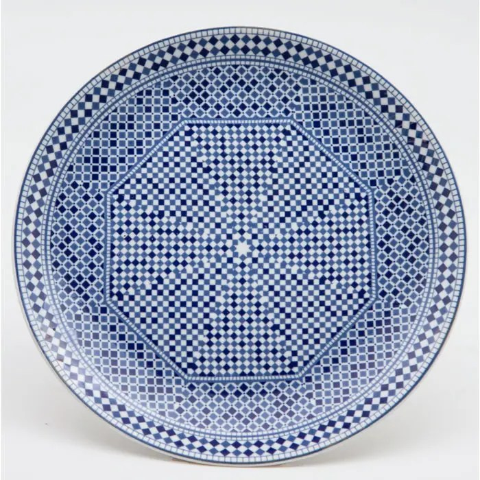 Moroccan Fez Blue Salad Plate