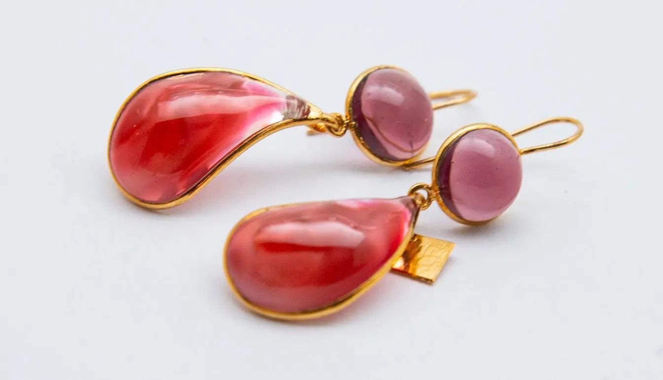 purple-red-drop-earrings