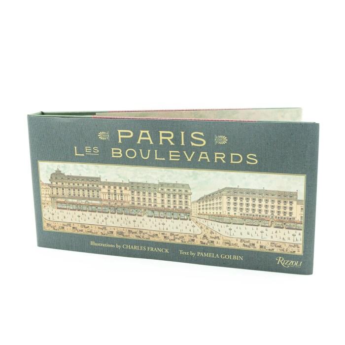Beautiful panoramic illustrations of Paris les boulevards