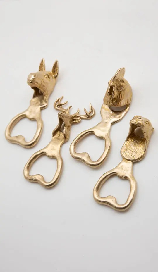 selection of four bottle openers (Donkey / Buck / Chicken / Otter)