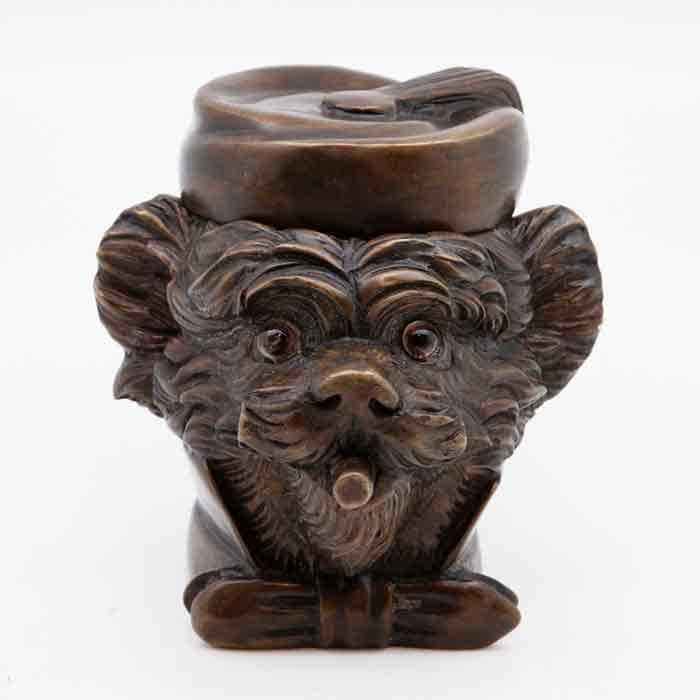 french dog tobacco jar